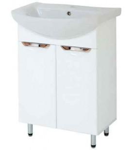 Тумба в ванную Альвеус 60-02 Пик с умывальником Либра 60