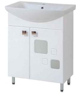 Тумба в ванную Квадро 65-35 Пик с умывальником Омега 65