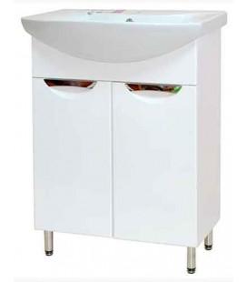 Тумба в ванную Альвеус 65-02 Пик с умывальником Омега 65