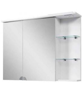 Зеркальный шкаф в ванную Симпл 100-06 LED Пик